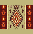 oriental mosaic rug with traditional folk vector image vector image