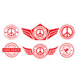 peace label banner stamp sign vector image vector image