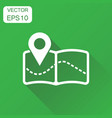 pin on the map icon business concept map gps vector image