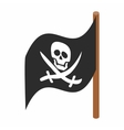 Pirate flag icon isometric 3d style vector image vector image