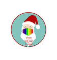 santa claus head wear lgbt colorful surgical mask vector image vector image