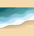 sea coast origami background wallpaper vector image vector image