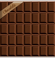 seamless background texture of chocolate with a vector image vector image