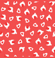 seamless pattern with doves and heats vector image