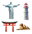 set icons on theme travel vector image