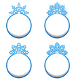 set variation label with snowflakes isolated vector image