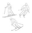 skiing men vector image