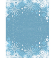 snowflake poster vector image vector image