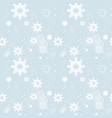 snowflakes seamless pattern winter ornament vector image vector image