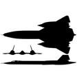 sr-71 blackbird vector image vector image