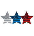 stars with american flag symbol vector image vector image