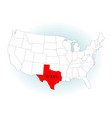 state highlited texas vector image vector image