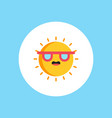 sun icon sign symbol vector image vector image