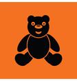 Teddy bear ico vector image vector image