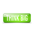 think big green square 3d realistic isolated web vector image vector image