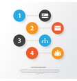 trade icons set collection of payment group vector image vector image