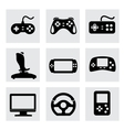 video game and joystick icons set vector image vector image
