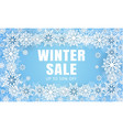 winter final sale concept background realistic vector image vector image
