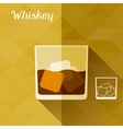 with glass whiskey in flat design style vector image vector image