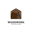 wood house logo design template vector image vector image