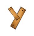wooden type y vector image vector image