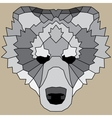 Gray low poly lined bear vector image