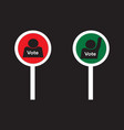 votes and no votes sign paddles vector image