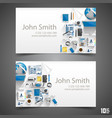 flat icons on cards vector image