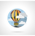 Hot balloon color detailed icon vector image
