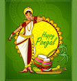 happy pongal festival vector image