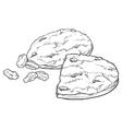 oat cookies with raisins vector image
