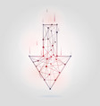 abstract arrow low poly style geometrical figure vector image
