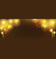 abstract golden firework on black background vector image vector image