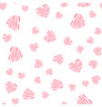 abstract heart seamless pattern background vector image