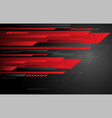 abstract technology red grey speed stripes on dark vector image vector image