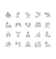 activities centre line icons signs set vector image vector image