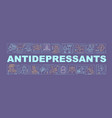 antidepressants concepts banner vector image vector image