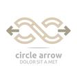 arrow design infinity element arch symbol icon vector image vector image