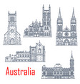 australian landmark churches and cathedrals vector image vector image