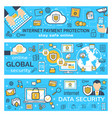 banners internet payment protection vector image vector image
