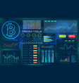 bitcoin technology visualization futuristic vector image vector image
