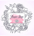 bouquet of lisianthus and orchid vector image vector image