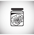 brain in can on white background vector image vector image