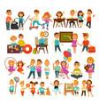 children in school or kindergarten outdoor vector image vector image