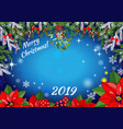 christmas and new year invitation or greeting vector image