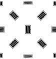 closed white window pattern seamless black vector image vector image
