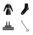 clothing fashion and or web icon in black style vector image