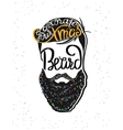 Decorate your xmas beard template design vector image vector image