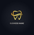 dental tooth logo vector image vector image
