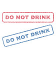 do not drink textile stamps vector image vector image